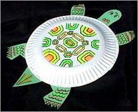 Поделки избумажных тарелок
